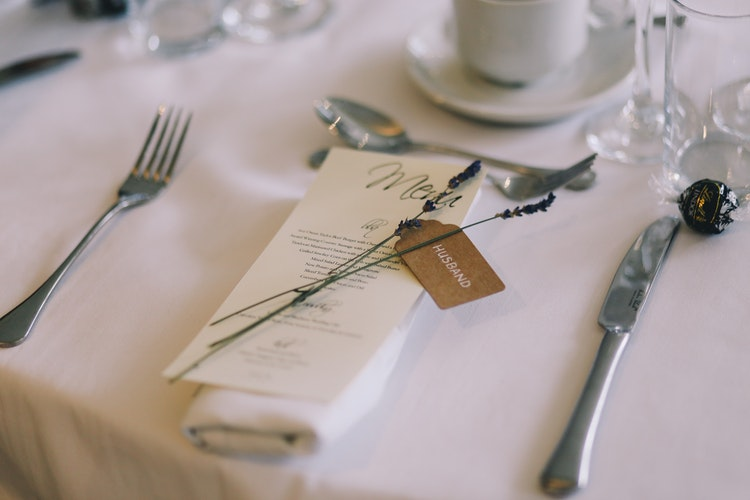 Guide to Wedding Menus